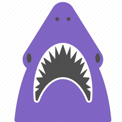 aquarium, attack, aware, danger, shark icon
