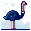 animal, bird, ostrich, wildlife icon