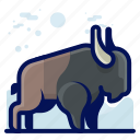animal, buffalo, mammal, wildlife icon