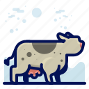 animal, cow, farm, mammal, wildlife icon
