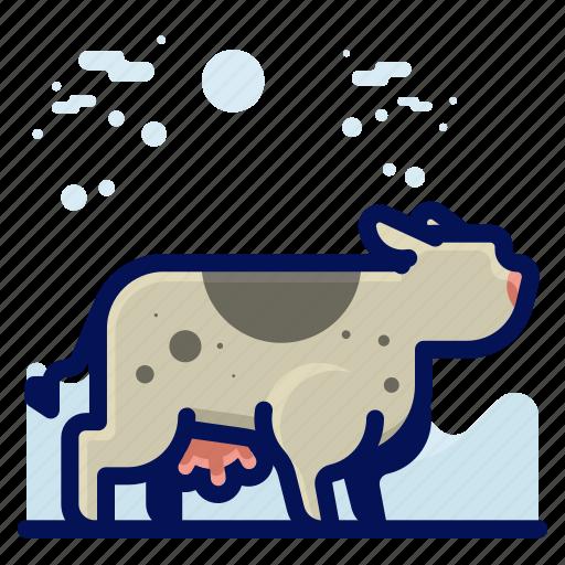 animal, cow, farm, mammal, wildlife icon