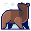 animal, bear, grizzly, mammal, wildlife icon