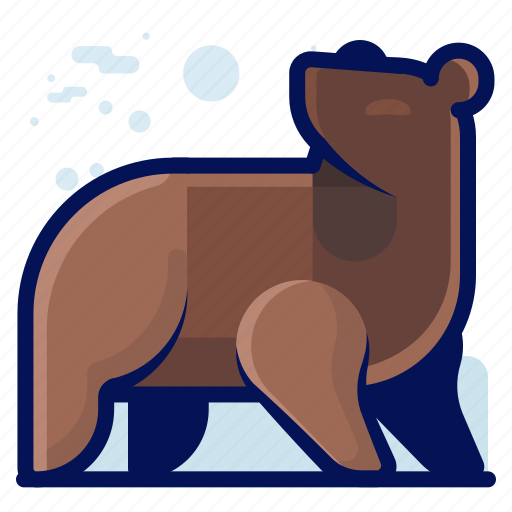 Animal, bear, grizzly, mammal, wildlife icon - Download on Iconfinder