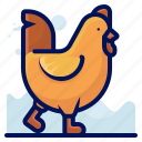 animal, bird, chicken, farm, wildlife icon