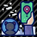 animal, cat, gps, pet, smartphone, tracker icon