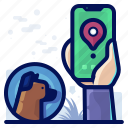 animal, dog, gps, pet, smartphone, tracker icon