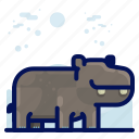 animal, hippo, mammal, wildlife icon