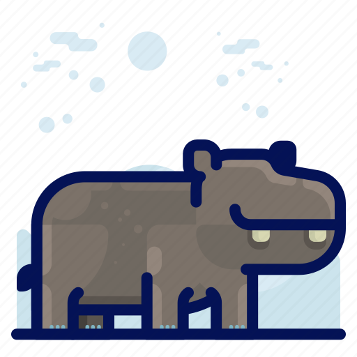 Animal, hippo, mammal, wildlife icon - Download on Iconfinder
