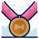 award, bone, medal, reward icon