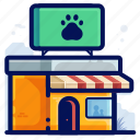 animal, paw, pet, print, shop, store