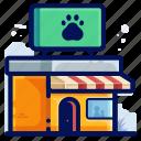 animal, paw, pet, print, shop, store