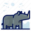 animal, mammal, rhino, wildlife icon
