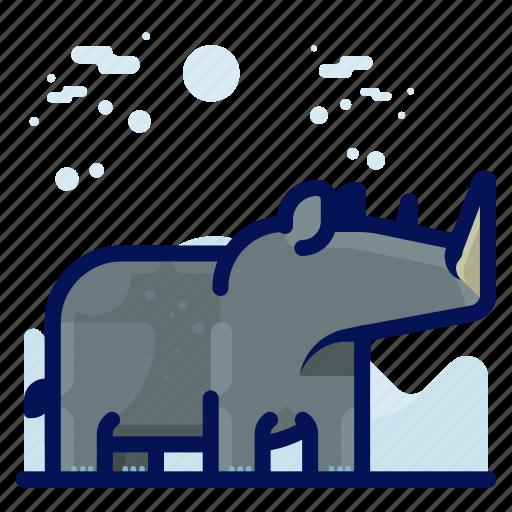 Animal, mammal, rhino, wildlife icon - Download on Iconfinder