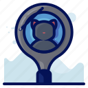 animal, cat, find, pet, search icon