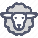 agriculture, animal, animals, farm, farming, pet, sheep icon