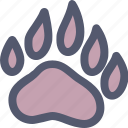 animal, animals, bear, paw, wild, wildlife, zoo icon