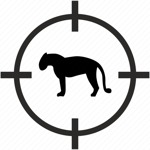 animal, hunting, jaguar, tiger, zoo icon