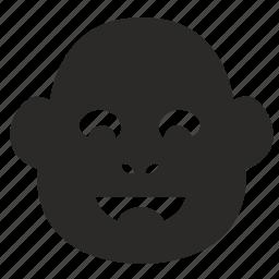 baby, face, kid, monkey icon
