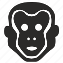 animal, chimp, chimpanzee, face, monkey icon