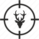 animal, deer, horns, hunting, wild icon