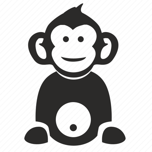 baby, child, monkey, smile icon