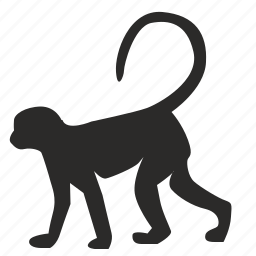 animal, figure, go, monkey, nature, wild icon