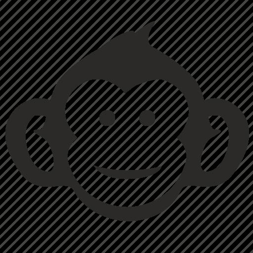 animal, kid, monkey, smile icon