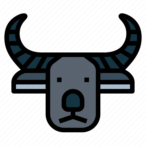 Anilmal, buffalo, carabao, horn, mammal icon - Download on Iconfinder