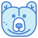 animal, bear, grizzly, wildlife icon