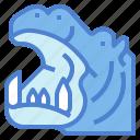 animal, hippo, hippopotamus, mammal, wildlife icon