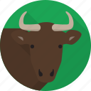 animal, buffalo, face, farm, pet, zoo icon