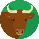 animal, bull, farm, horns icon