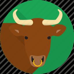 animal, bull, farm, horns icon