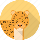 animal, fast, jungle, leopard icon