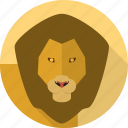 wild, king, lion, animal, leo