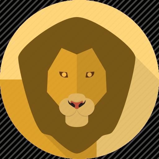 animal, king, leo, lion, wild icon