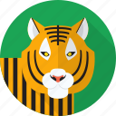 tiger, wild, jungle, animal icon