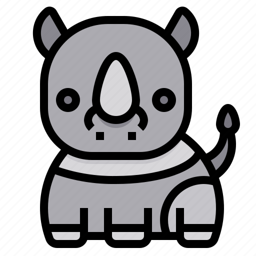 Rhino, animal, zoo, wild, wildlife icon - Download on Iconfinder