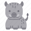 boar, pig, animal, wild, mammal icon