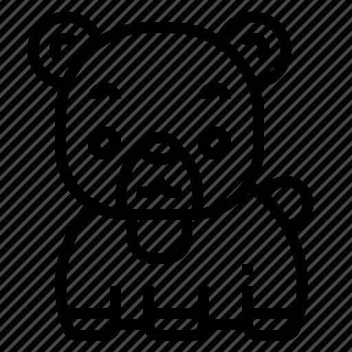 Bear, mammal, wildlife, zoo, animal icon - Download on Iconfinder