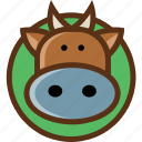 animal, bull, cow, pet icon