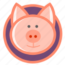 animal, oink, pet, pig, piggy icon