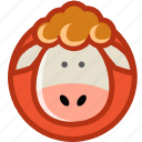 animal, lamb, pet, sheep, wool icon