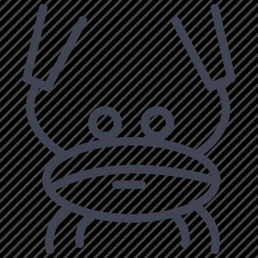 animal, crab, food, marine, nautical, sea icon