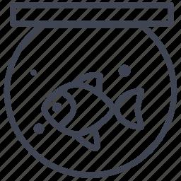 animal, animals, bowl, fish, nautical, pet icon