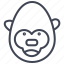 animal, animals, gorilla, monkey, monkeys, nature icon