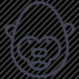 animal, animals, gorilla, monkey, monkeys, nature icon