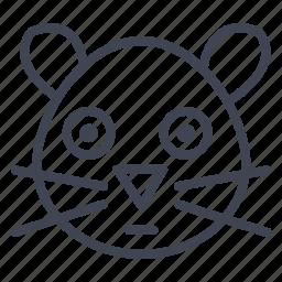 animal, animals, cute, hamster, pet icon
