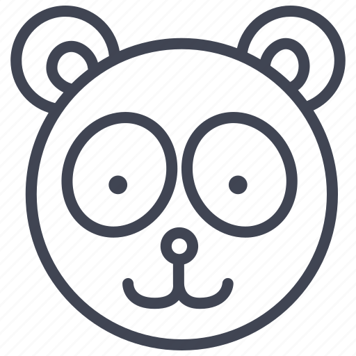 animal, animals, bear, nature, panda, teddy, toy icon