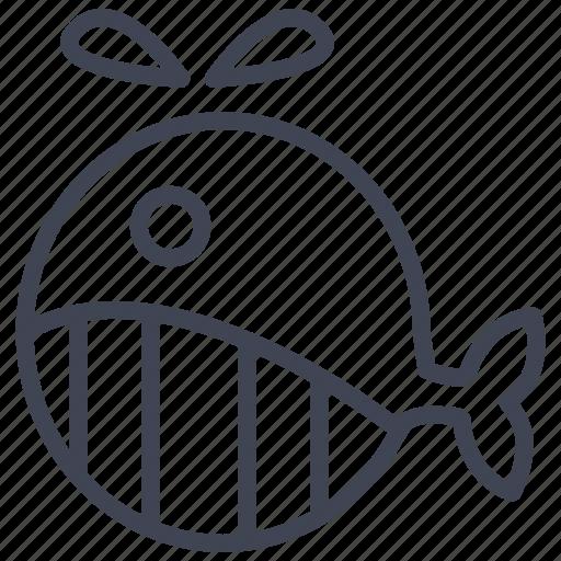 animal, marine, nautical, ocean, sea, whale icon